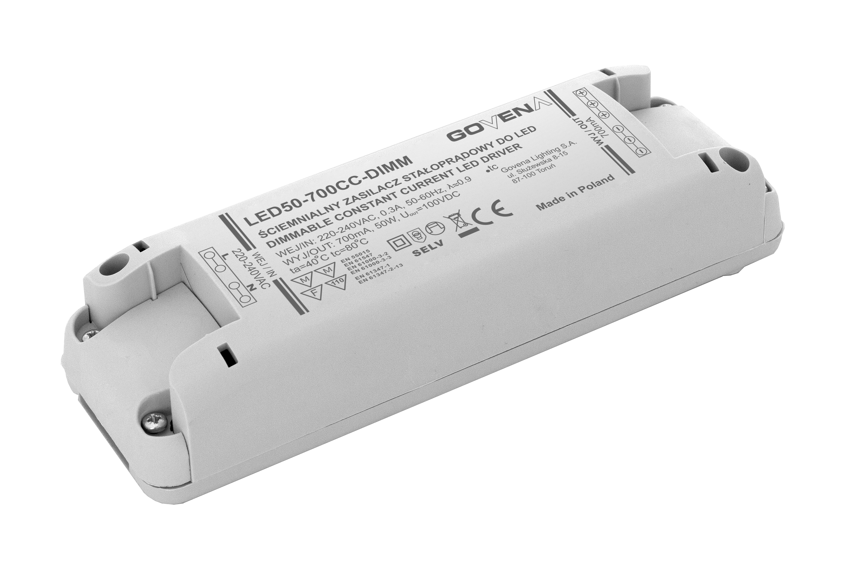 Dimmable Power Supplies Govena Lighting Sa Driver Constant Current Dimming Led 50w 700ma Supply Output Rated 15w 30w