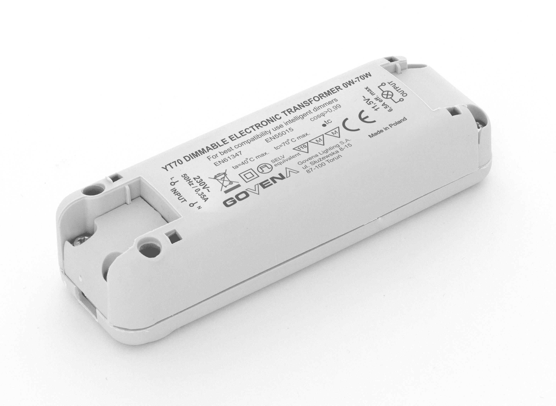 TEG-YT-60 Transformateur électronique 60VA 230VAC 11.5 V 0-40 ° C GOVENA